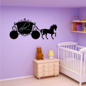 Princess carriage - Chalkboard / Blackboard Wall Stickers