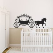 Princess carriage Wall Stickers