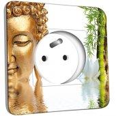 Prise décorée Bouddha 1