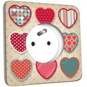Prise décorée Coeur 6