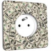 Prise décorée  Dollars
