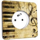 Prise décorée Musique Old Style