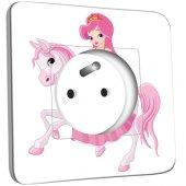 Prise décorée Princesse cheval
