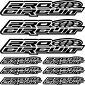 Pro circuit Aufkleber-Set