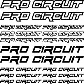 pro circuit Decal Stickers kit