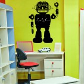 Robot - Chalkboard / Blackboard Wall Stickers