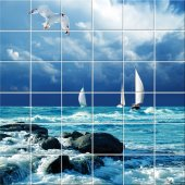 Sea - Tiles Wall Stickers