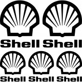 Shell Aufkleber-Set