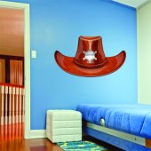 Sheriff Hat Wall Stickers