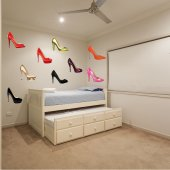 shoes Set Wall Stickers
