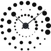 Spiral Clock Wall Stickers