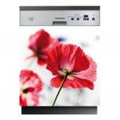 Spülmaschine Aufkleber Blumen