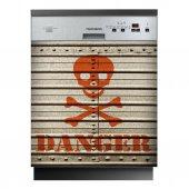 Spülmaschine Aufkleber Danger