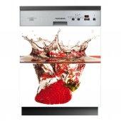 Spülmaschine Aufkleber Erdbeere