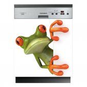 Spülmaschine Aufkleber Frosch