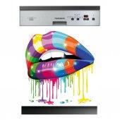 Spülmaschine Aufkleber Lippen