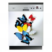 Spülmaschine Aufkleber Schmetterlinge