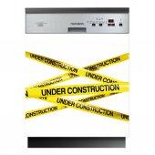 Spülmaschine Aufkleber Under Construction
