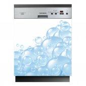 Spülmaschine Aufkleber Wasserblasen
