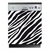 Spülmaschine Aufkleber Zebra