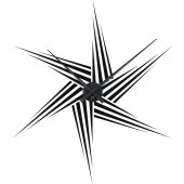 Star Clock Wall Stickers