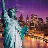 Statue of Liberty - Tiles Wall Stickers