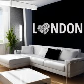 Sticker Inima London