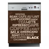 Sticker Masina de Spalat Vase Coffee