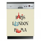 Sticker Masina de Spalat Vase Paris London