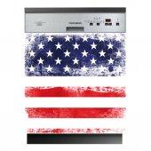 Sticker Masina de Spalat Vase Statele Unite