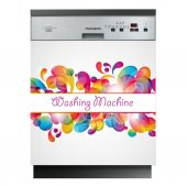 Sticker Masina de Spalat Vase Washing