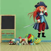 Sticker Pentru Copii Fetita Pirat