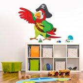 Sticker Pentru Copii Papagal Pirat