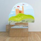 Sticker Pentru Copii Peisaj Castel