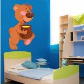 Sticker Pentru Copii Ursulet Borcan de Miere
