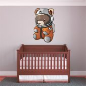 Sticker Pentru Copii Ursulet Cosmonaut