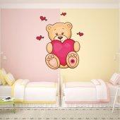 Sticker Pentru Copii Ursulet Inima Mare