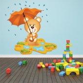 Sticker Pentru Copii Ursulet Umbrela