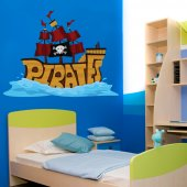 Sticker Pentru Copii Vapor Pirat