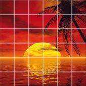 Sticker pentru faianta Mare Apus de Soare
