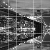 Sticker pentru faianta Pod New York