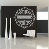 Sticker simbol rotund Asiatic
