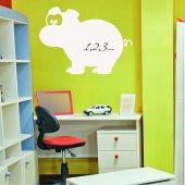 Sticker tabla velleda Hipopotam