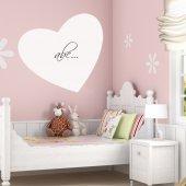 Sticker tabla velleda Inima