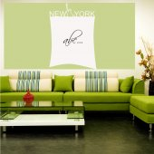 Sticker tabla velleda New York