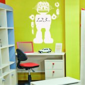 Sticker tabla velleda Robot