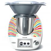Sticker Thermomix TM 5 cu Dungi Multicolore