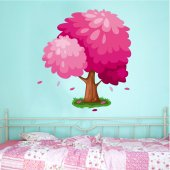 Stickers Arbre Rose