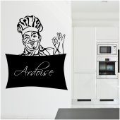 Stickers ardoise chef cuisine