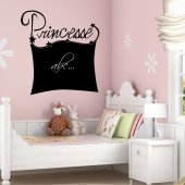 Stickers ardoise princesse